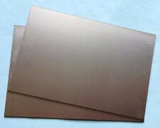 2 Single Side Copper Sheet Plate Guillotine Cut Bakelite Copper Clad PCB 10x15cm