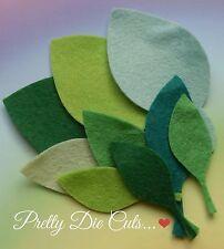 Large Felt Leaves (9) Die Cut Floral Craft Embellishments