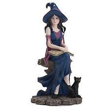 LENOX ~ Witch Figurine BOOK of WITCHCRAFT ~ Black Cat HALLOWEEN Decor NIB