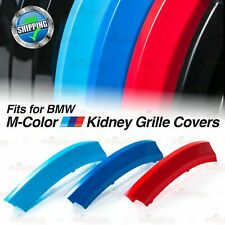 M-Power Kidney Gril Grille Tri-Color Covers Insert Clips fit BMW ALL Series HERE
