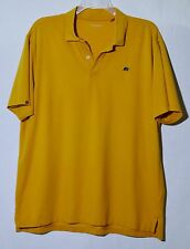 ASHWORTH GOLF Men's Orange Polo Shirt XL Short Sleeves Cotton/Poly/Spandex