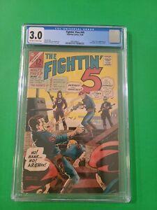 FIGHTIN' FIVE #40 🔫 CGC 3.0 1966 Origin & 1st App of PEACEMAKER HBO Max show 🔥