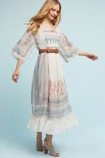 NEW ANTHROPOLOGIE Sz M L EMBROIDERED CHIFFON TORONTO DRESS