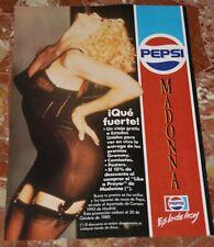 MADONNA PEPSI ORIGINAL SPANISH MAGAZINE ADVERT 1989 RARE
