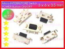 POWER ON/OFF 5 PEZZI Micro INTERRUTTORI 3x6x3.5 mm Pulsante Accensione TABLET PC
