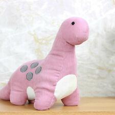 Pink Dinosaur Fabric Door Stop Novelty Animal Doorstop Wedge Heavy Door Stopper