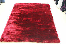Whisper Shaggy  Super Soft 5 mm Thick High Quality RED Rug & Runner  NOW 30%OFF