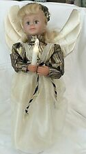 """Christmas Holiday Trim 18"""" Angel Figure, Doll Angel, Musical, Candle Lights Up"""