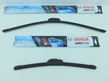 FITS NISSAN ELGRAND E51 02-10 FRONT SET OF BOSCH TWIN FLAT WIPER BLADES