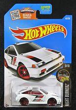 2016  Hot Wheels  White 1985 Honda CR-X   Card #85   HW-28