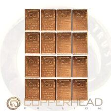 16 x 1oz Copper Bars (1 lb Pound) Element Design Bullion Ingots Cracker 5-10-20