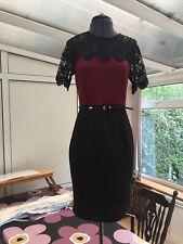 Brand New Dorothy Perkins Burgundy Smart Pencil Dress Bordeaux Oxblood 8 BNWT