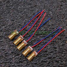 5x 650nm 6mm 3V 5mW Red Laser Dot Diode Module Copper Head 5pcs X27