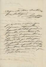 Louise Colet Lettre autographe signée à Banville