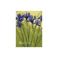 Irises on Green Thank You Greeting Card & Envelope by Tree Free