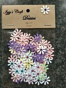 100 small DAISY flowers card MAKING,#129 CRAFT wedding table birthday gift decor