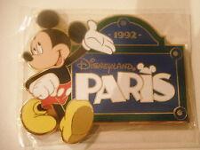 MAGNET RIGIDE DISNEY DISNEYLAND PARIS : MICKEY + PANCARTE DLRP PARIS 1992