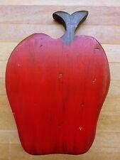 "Vintage 9-1/2"" Folk Art Wooden Apple Wall Figure. Beaver Creek, Beaman, Iowa"