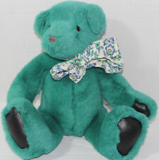 Vintage 1992 GUND VICTORIA'S SECRET Green Teddy Bear VINYL PAW PADS Plush TOY