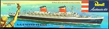 REVELL Kit No. H-312:198, S.S. UNITED STATES 1/600 , MIB, 100% Complete,1953
