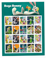 US MINT SHEET OF BUGS BUNNY STAMPS 20 STAMPS FOREVER 2020