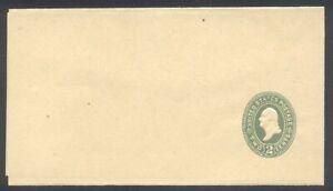 U.S. #W316 Mint Entire (1024a-0) - 2c Green on Manila ($75)