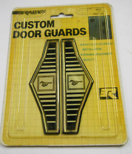 NOS Vintage Ford Mustang Custom Door Guard Trim Distinctive Custom Label