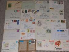 21 Stück Briefe aus Europa mit Briefmarken Sammlung Lot Konvolut
