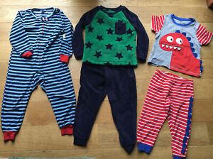 Boys pyjamas bundle age 3-4 x 3 Pairs