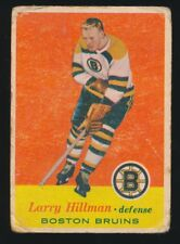 1957-58 Topps Hockey #17 LARRY HILLMAN RC-Rookie (Boston Bruins)