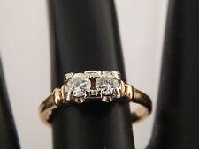 Twin Old European Cut Diamond Ring .33 tcw F/VVS Top Quality ART DECO 14k Estate