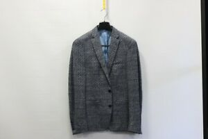 Remus grey and blue patterened slim fit blazer - 38r - £49