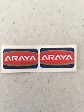 Araya Old School Bmx Rim Wheel Stickers Decals Era Correct 20""