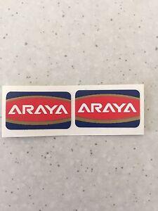 "Araya Old School Bmx Rim Wheel Stickers Decals Era Correct 20"""