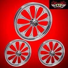 """Harley Davidson Trike Custom """"Wizard"""" Chrome Wheels  FLHXXX  from FTD Customs"""