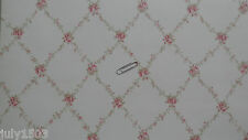 4 rolls NextWall CTG21504 Wallpaper pink flower lattice prepasted new Free Ship