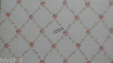 NextWall CTG21504 Wallpaper pink flower lattice prepasted new Free Ship