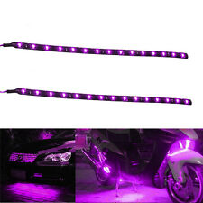 Lot2 Purple 15 LED 30CM Car Grill Flexible Waterproof Light Strip SMD 12V Sales