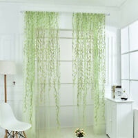 Wicker Willow Voile Tulle Room Window Curtain Sheer Voile Panel Drapes Curtain