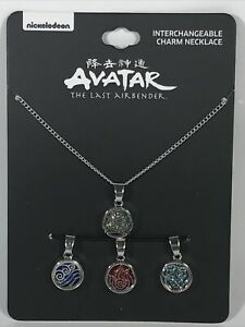 Nickelodeon Avatar The Last Airbender Symbols Interchangeable Charms Necklace