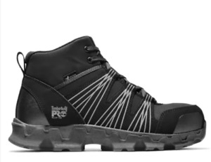 Timberland PRO Men's Powertrain Mid ESD Alloy Toe Black Hiker TB0A11QF