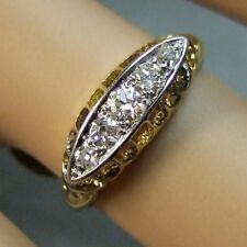18ct gold second hand antique victorian 5 stone diamond ring