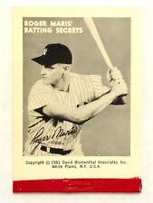 Vintage 1961 Roger Maris Batting Secrets Flip Book New York Yankees MINT