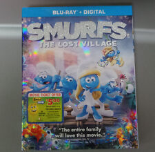 Smurfs: The Lost Village (Blu-ray + Digital) NEW/SEALED   SLIPCOVER I NCLUDED