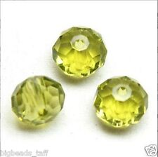 5pcs big sparkly oliver green crystal beads 14x11mm