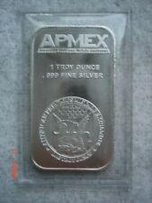 1 Troy Ounce .999 Fine Silver Apmex Bar