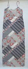 Next Women`s Dress Maxi Scarf Print Grey Size 8 Tall
