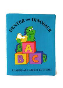 Dexter the Dinosaur ABC - Soft Cloth Books for Baby, Children, Boys, Girls