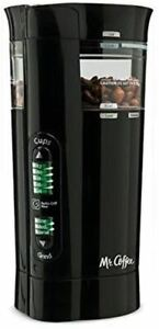 Mr. Coffee 12 Cup Electric Coffee Grinder with Multi Settings, Black, 3 Speed -