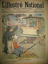 L'ILLUSTRé NATIONAL N° 12 HUMOUR CARICATURE TRAMWAY DESSINS FAIVRE GOTTLOB 1903